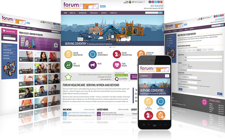 Forum Health Centre: A large established practice with a pioneering website
